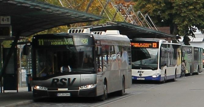 Busse im ZOB