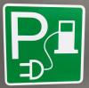 Symbol Parkplatz E-Ladestation