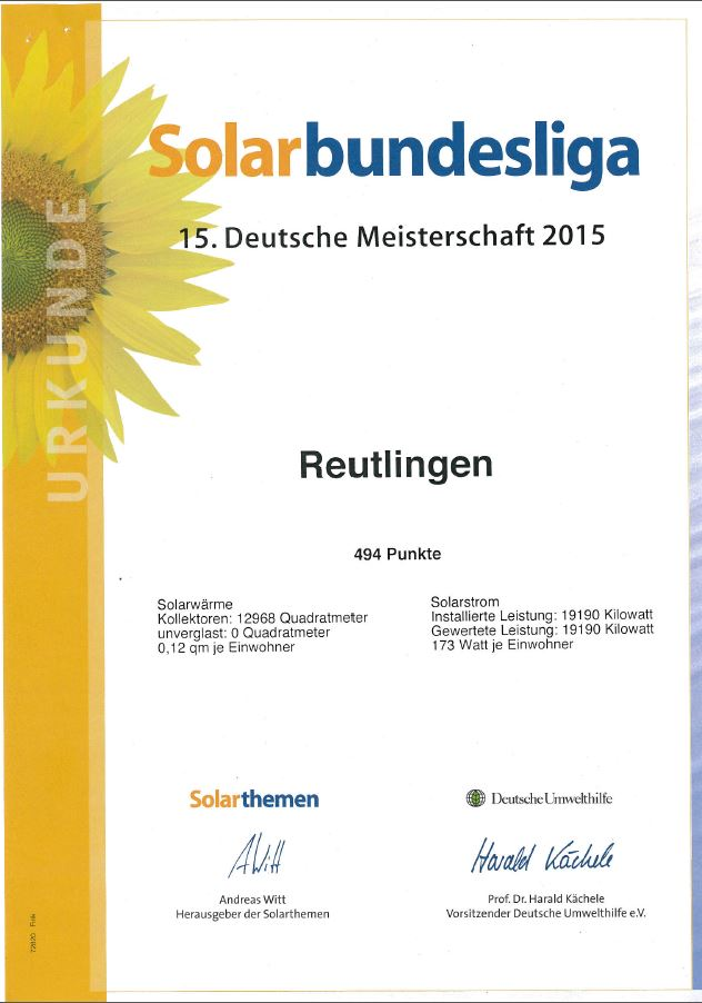 Urkunde Solarbundesliga 2015 Seite 1